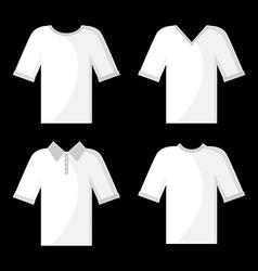 shirt white set vector image vector image