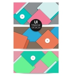 Collection of abstract backgrounds UI material vector image vector image