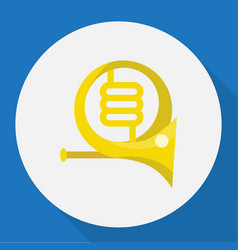 Of mp3 symbol on french horn vector