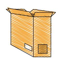 open cardboard box icon image vector image vector image