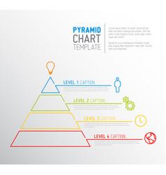 pyramid chart diagram template vector image
