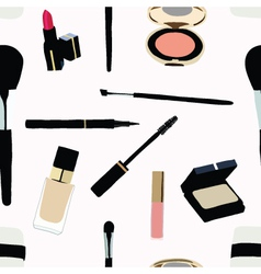 Seamless Makeup and cosmetics vector image vector image
