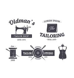 Tailor emblems 1 vector