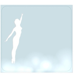 background with a dancer vector image vector image