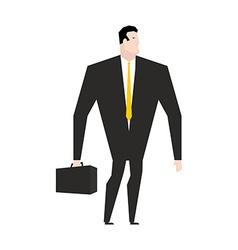 Businessman with briefcase Manager in black formal vector image vector image