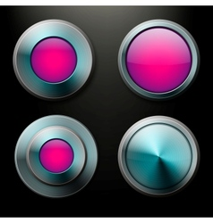 Color glass buttons set vector image vector image