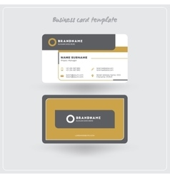 Golden and Gray Business Card Print Template vector image