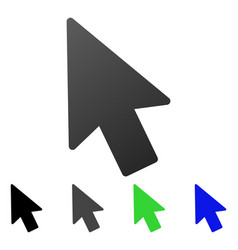 mouse pointer flat gradient icon vector image vector image