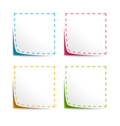 Set of Coupons with cut lines vector image