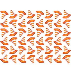 Traffic cones seamless background vector image