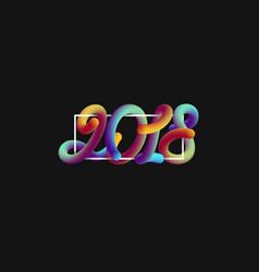 3d numeric 2018 with frame vector