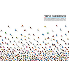 a crowd of people vector image