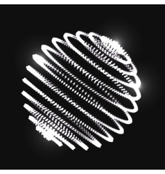 Abstract 3D sphere spiral shape vector