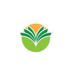 abstract circle business logo vector image