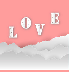 abstract love backgroundlove romantic messages vector image vector image