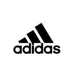 Adidas sport clothing brand logo editorial image vector