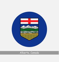Alberta canada round circle flag vector