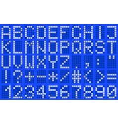Alphabet uppercase blue vector image vector image