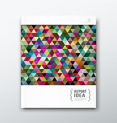 annual report abstract colorful triangle geometric vector image
