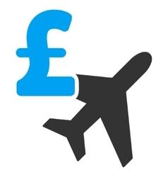 Aviation Pound Business Flat Icon Symbol vector image
