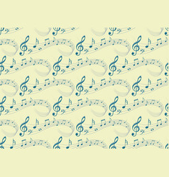 background with music notes vector image