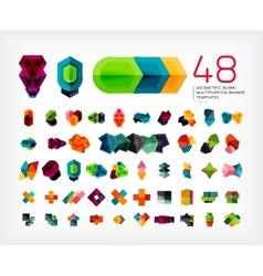 Blank geometric banner design templates vector