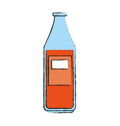 Bottle of soda icon vector