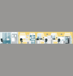 business office interior office building floor vector image