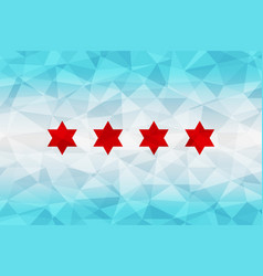 Chicago flag polygonal vector