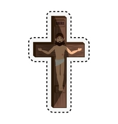 Christian cross isolated icon vector image