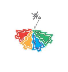 Christmas trinket vector