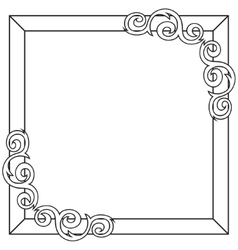 Contour decorative ornate frame vector image