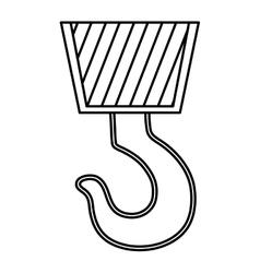 Crane icon construction tool design vector