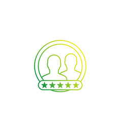 Customer review top rating icon badge vector