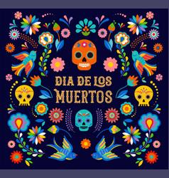 Day dead dia de los moertos banner vector