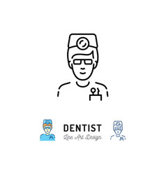 Dentist icon dental surgeon doctor therapist vector