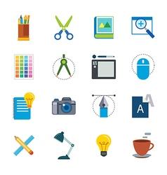 Designer tool flat icon vector