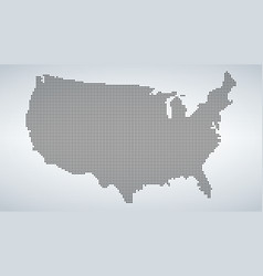 dotted map of usa isolated on white background vector image