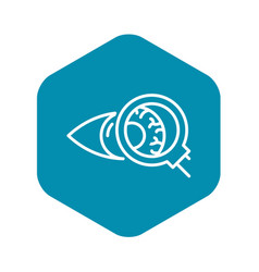 Eyeball inspection icon outline style vector
