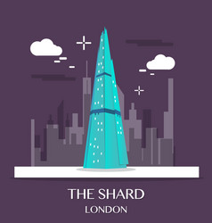 Famous london landmark the shard vector