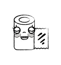 Figure kawaii cute happy gauze medical tool vector