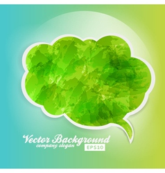 Grunge Speech Bubble Background Green vector image