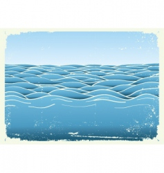 grunge waves vector image