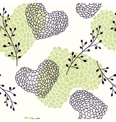 Handdrawn hearts seamless pattern vector