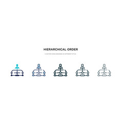 Hierarchical order icon in different style two vector