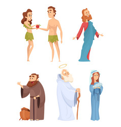 Historical characters of bible mascots in vector