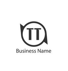 Initial letter tt logo template design vector