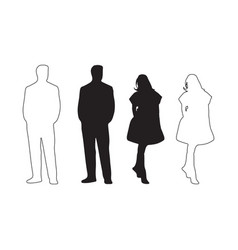 male and female silhouette vector image