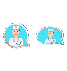 Medical consultation button vector