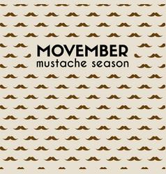 movember mustache season mustache pattern vector image